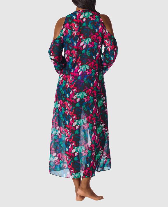 Long Chiffon Kimono Bright Floral 2