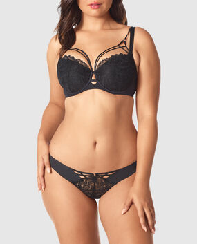 Lightly Lined Balconette Bra Smoulder Black 1