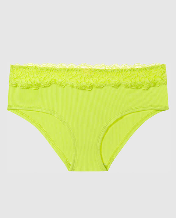 Ribbed Hipster Panty Limelight 1