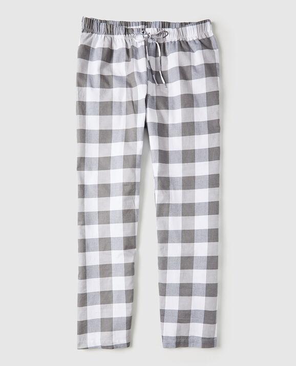 Flannel Pajama Pant Grey Check 2