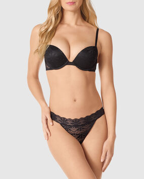 Push Up Bra Smoulder Black 1