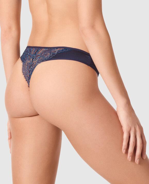 Thong Panty Blue Velvet 2