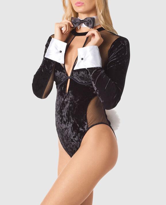 Velvet Bodysuit Smoulder Black 4