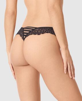 Crotchless G-String Panty Smoulder Black 1