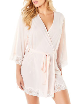 Microfiber Kimono with Lace Rosewater 1