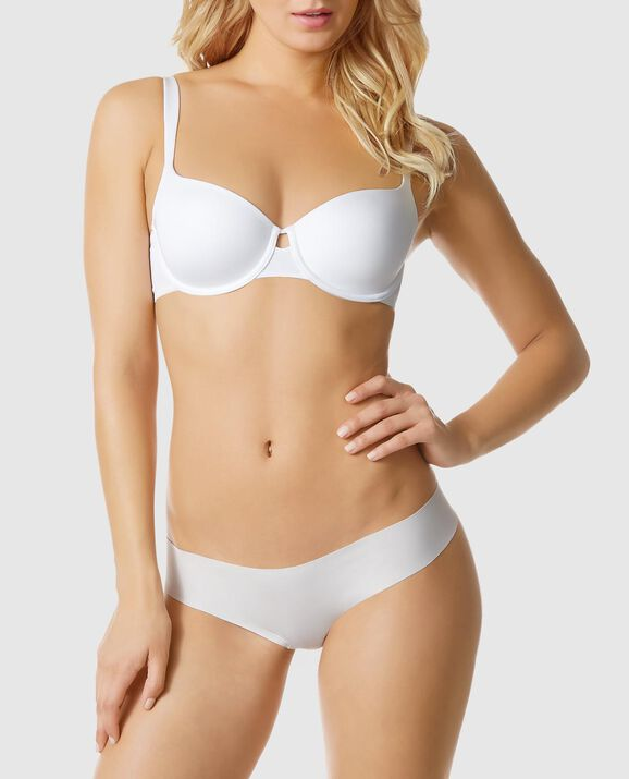 Lightly Lined Balconnet Bra White 1