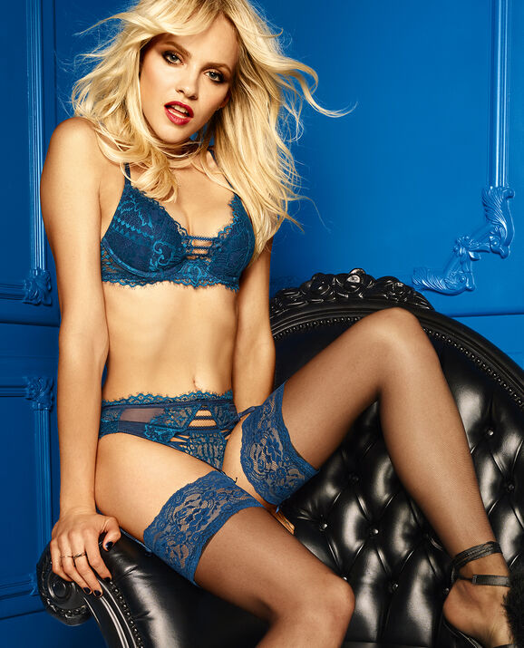 Push Up Bra Exotic Ink with Blue Moon 3