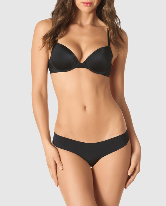 Lightly Lined Demi Bra Smoulder Black 1