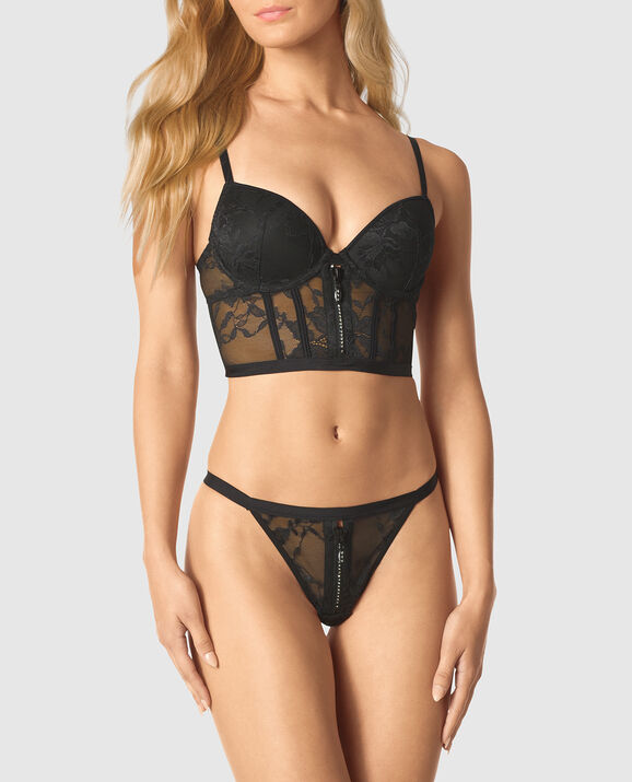 Lightly Lined Bra Top Smoulder Black 1