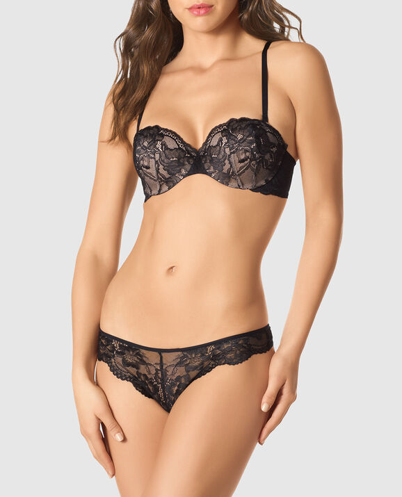 Strapless Lightly Lined Bra Smoulder Black 3