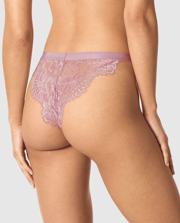 High Leg Cheeky Panty Soft Mauve 2