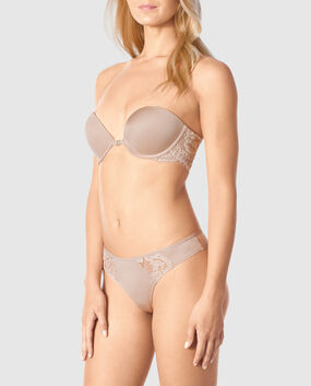 Front-Close Strapless Push Up Bra
