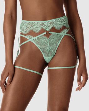 G-String Garter Panty Misty Mint 1