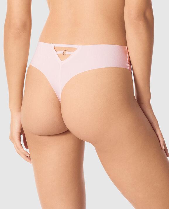 High Waist Thong Panty Pale Lilac 2