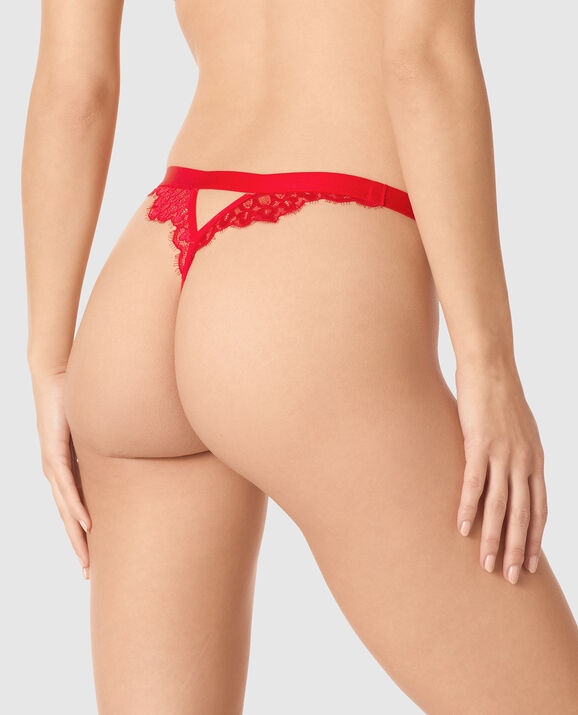 Crotchless G-String Panty Chili Red 2