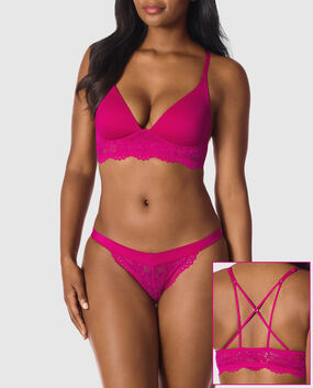 Lightly Lined Wireless Bra Wild Pink 1