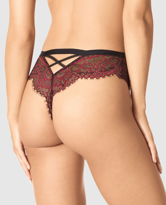 High Waist Thong Panty Opulent Red 2