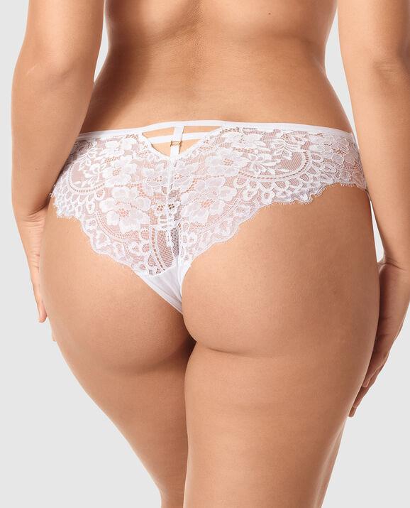 V Front Brazilian Panty White 2