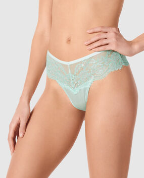 High Waist Cheeky Panty Blue Velvet 1