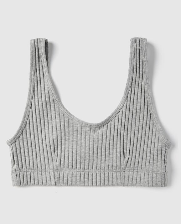 Ribbed Bralette Heather Grey 1