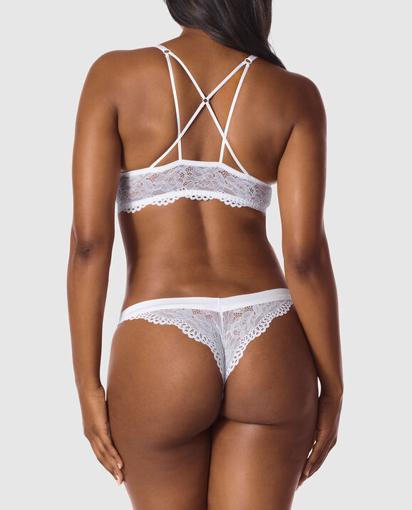 Front-Close Push Up Bra White 2