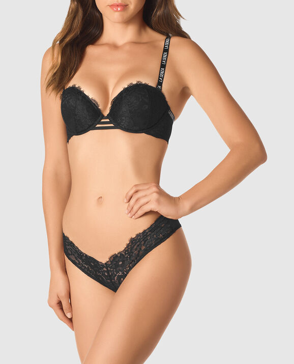 Strapless Push Up Bra Smoulder Black 3