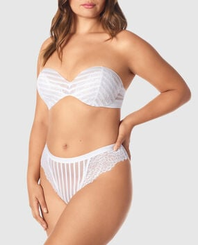 Lightly Lined Strapless Bra White 1