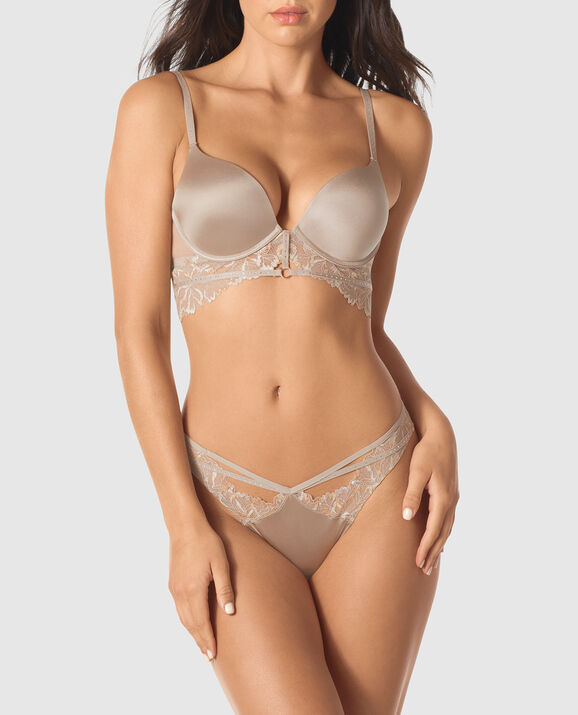 Up 2 Cup Push Up Bra Sable Smoke 2