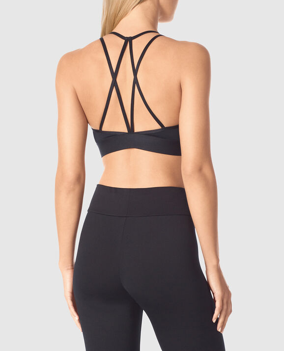 Low Impact Sports Bra Smoulder Black 2