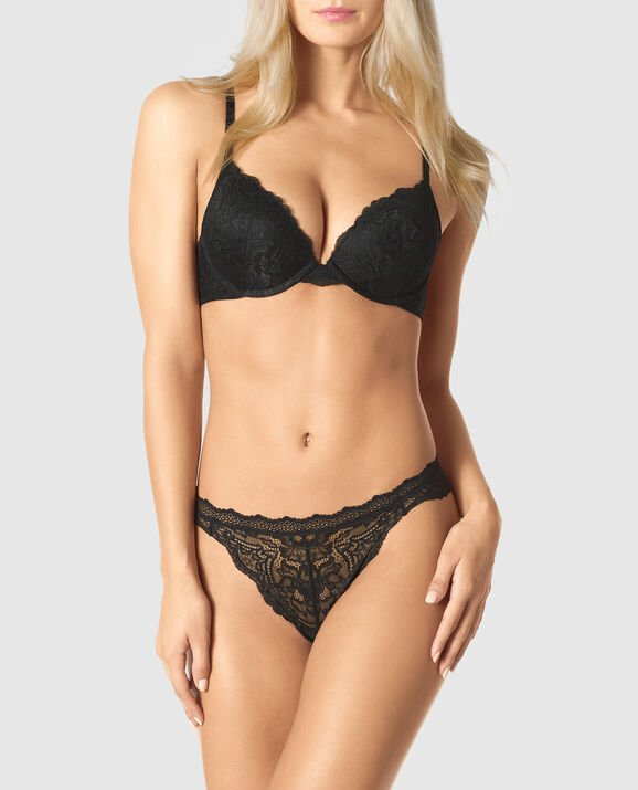 Light Push Up Bra Smoulder Black 1