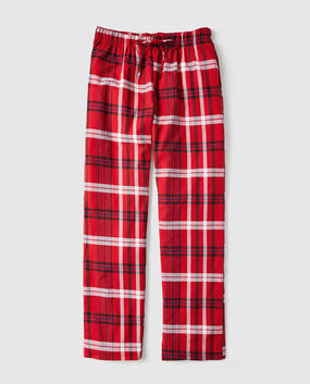 Flannel Pajama Pant Red Plaid 1