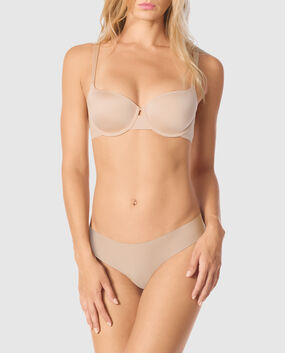 Lightly Lined Balconette Bra Rose Tan 1