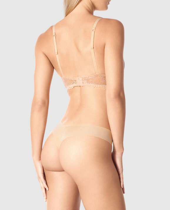 Lightly Lined Wireless Bra Rose Tan 2