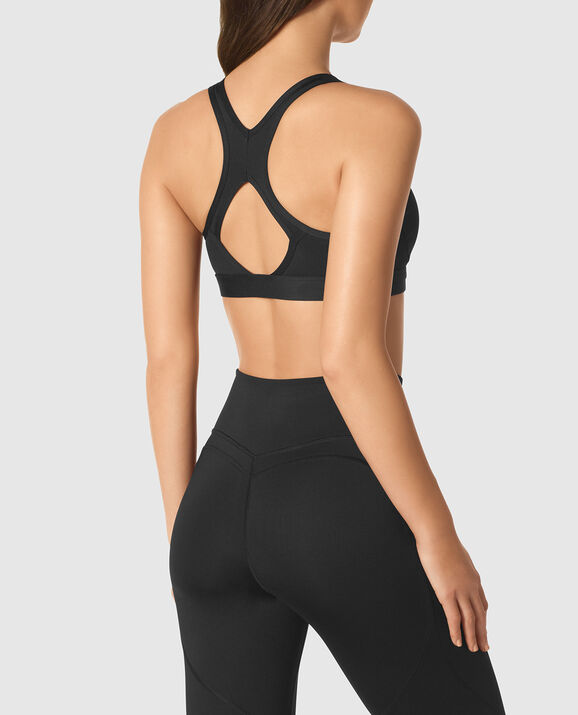 Strappy Sports Bra Smoulder Black 2