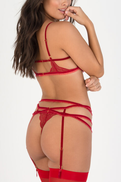 Tatiana Unlined Bra Ruby 2