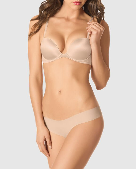 Strapless Push Up Bra Rose Tan 3