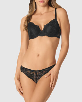 Lightly Lined Full Coverage Bra Smoulder Black 1