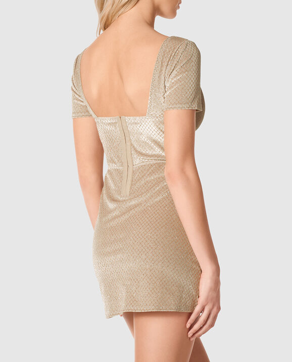 Velvet Slip Dress Nude Dreamy Diamond 2