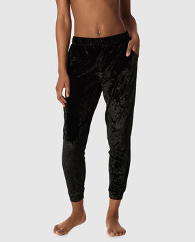 Crushed Velvet Jogger Smoulder Black 1