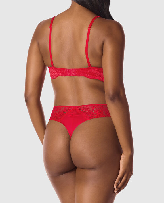 Lightly Lined Full Coverage Bra Candy Red 2