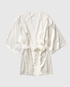 Satin Kimono with Lace Majestic Sapphire 1