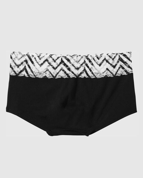 Boyshort Panty Black & White Chevron 2