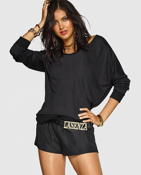 Pullover Sweatshirt with V Back