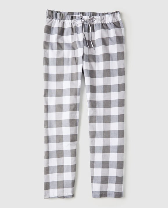 Flannel Pajama Pant Grey Check 1