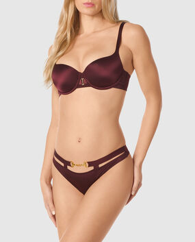 Lightly Lined Balconette Bra Espresso 1