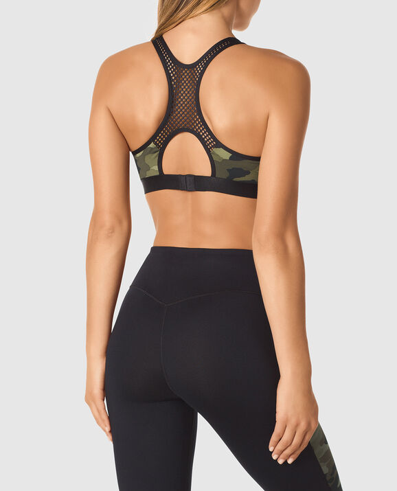 Push Up Sports Bra Camo 2