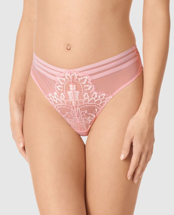 High Waist Thong Panty Cotton Candy 1