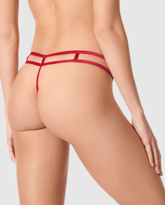 Crotchless G-String Panty Red Lacquer 2