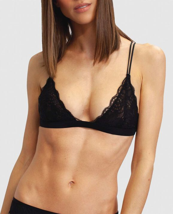 Boston Lace Bralette Smoulder Black 1