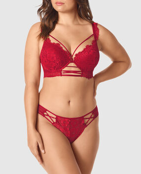 Up 2 Cup Push Up Bra Red Lacquer 1